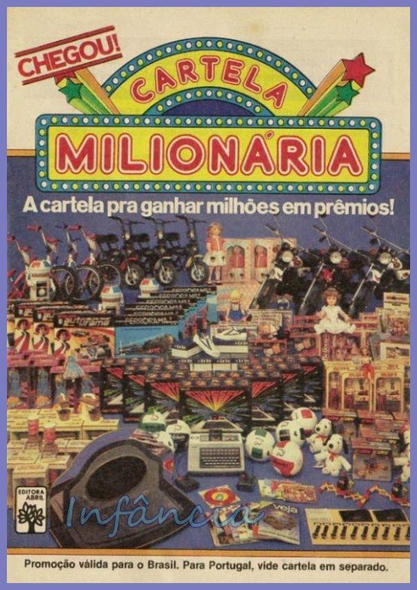 Promoção Cartela Milionária #nostalgia