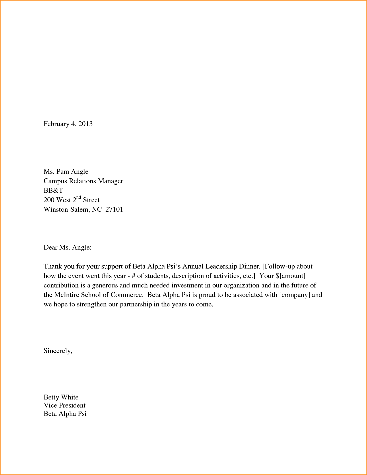 Thank You Business Letters Letter Template Png Thankyou  Home
