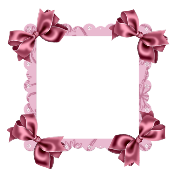Pink Transparent Frame with Bow | Рамочки и виньетки для Photoshop ...