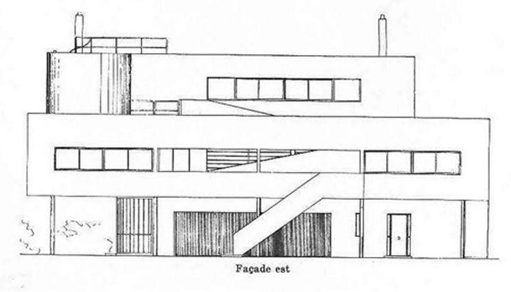 Villa Savoye drawing, Le Corbusier Architecture   Engineering