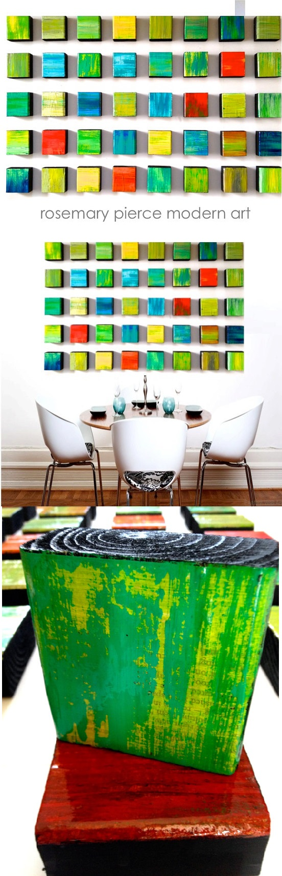 Large painted wood wall sculpture rhapsody collection of huge