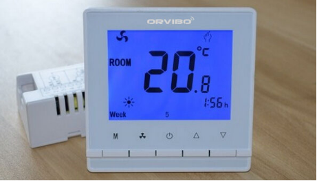 Smarthome Central A C Control Panel Working With Orvibo Zigbee Smart Hub You Can Freely Control The Central A Digital Thermostat Room Thermostat Thermostat
