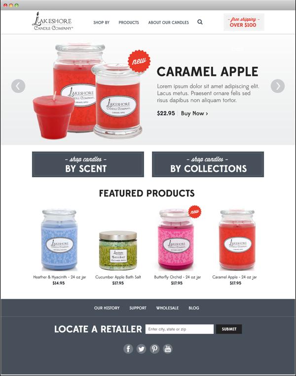 Lakeshore Candle Website Candle Website Web Design Responsive Website Design