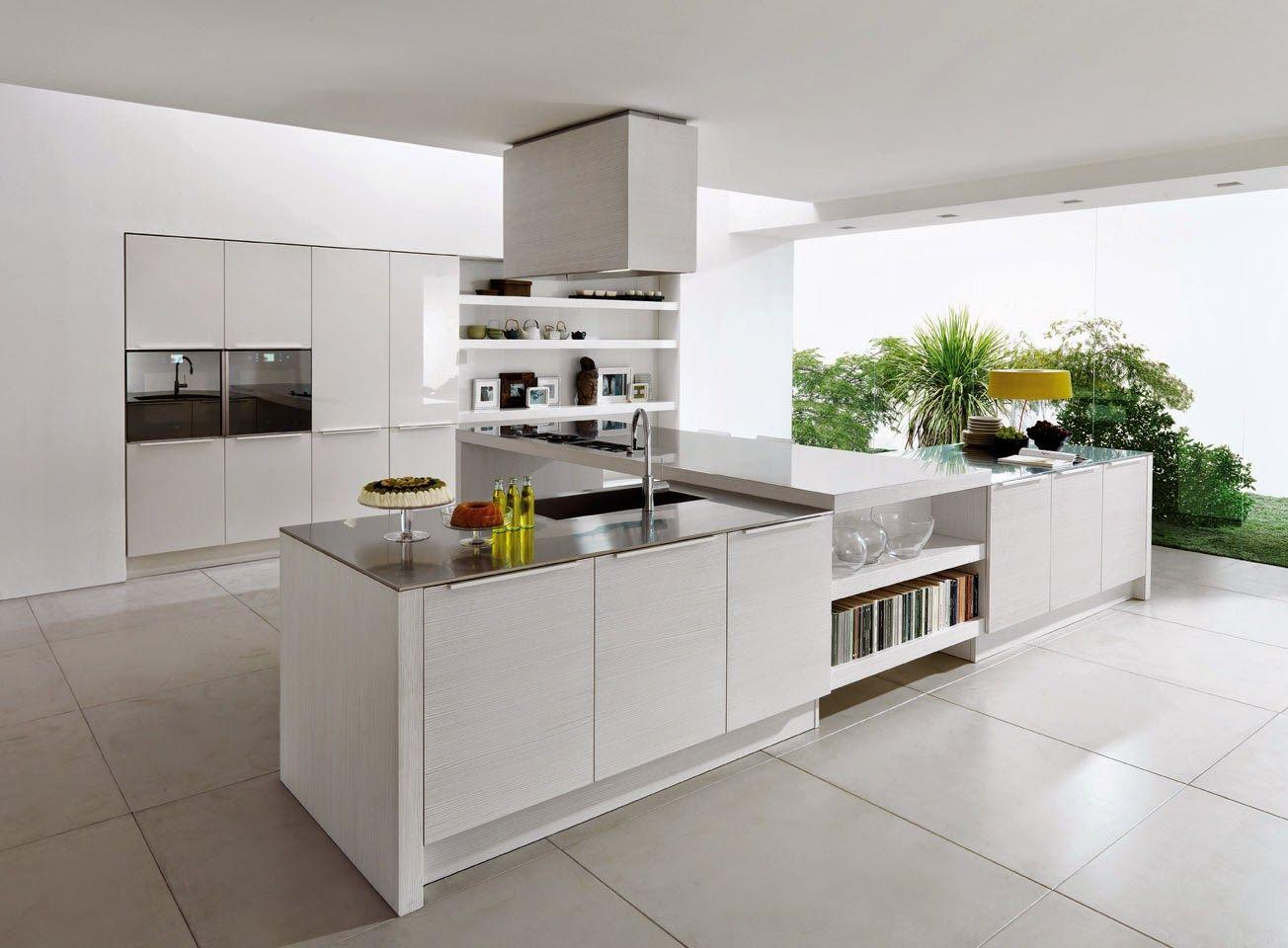 Cocina de amplias dimensiones elegante y moderna | Hogar 10 ...