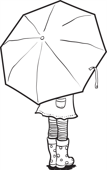 Umbrella coloring page printables 1 pinterest craft for Printable umbrella template for preschool