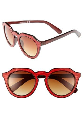9d88ba18eef1 Vintage style sunglasses  Womens A.J. Morgan Zipster 50mm Sunglasses - Red   24.00 AT vintagedancer.com