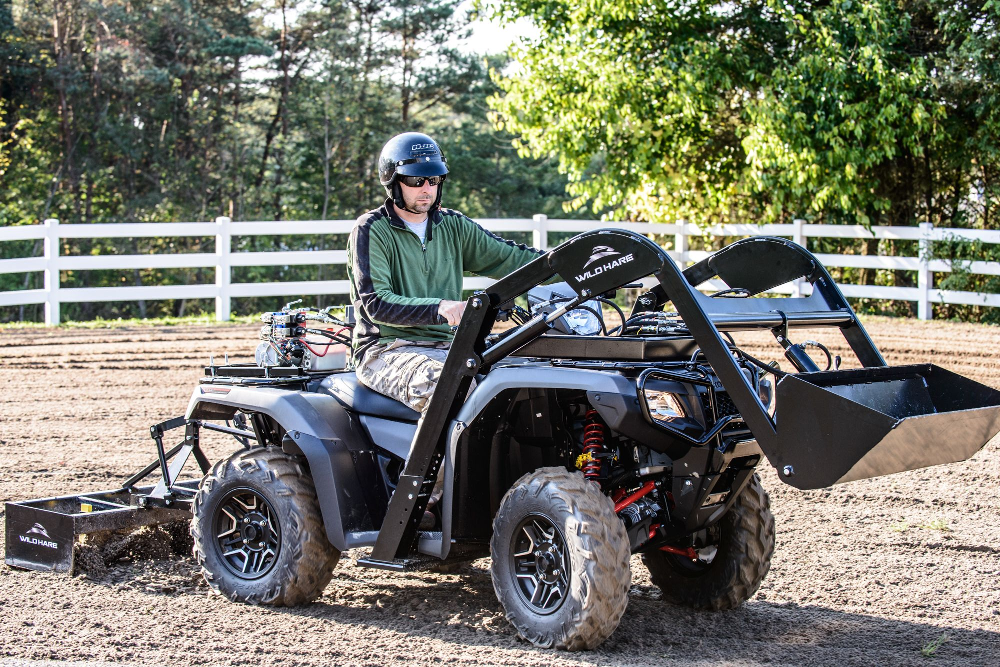 Wild Hare Atv Front End Loader With Box Blade Attachments