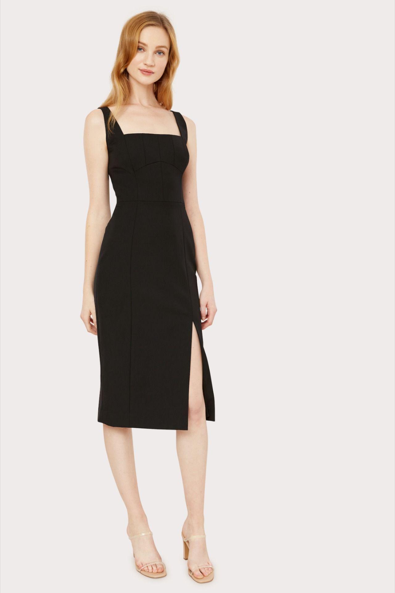 Rita Square Neck Midi Dress Cute Skirt Outfits Midi Dress Sleeveless Midi Dress [ 1919 x 1280 Pixel ]