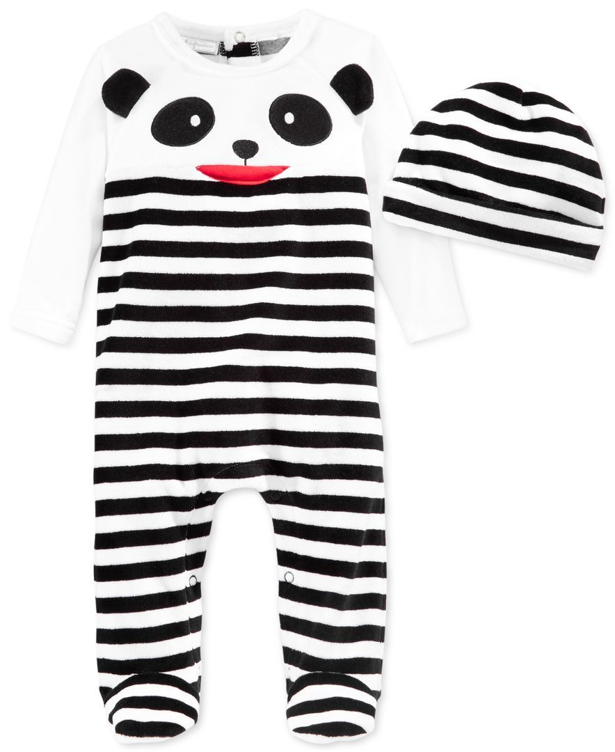 bfa5516a8 First Impressions Baby Boys  Panda Coverall   Hat Set