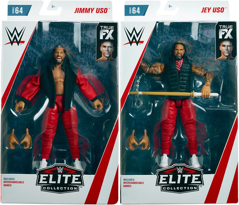Jimmy Uso WWE Elite 64 Mattel Toy Wrestling Action Figure Tag Team SmackDown RAW
