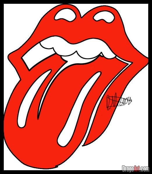 How To Draw The Rolling Stones Lips And Tongue Step By Step Band