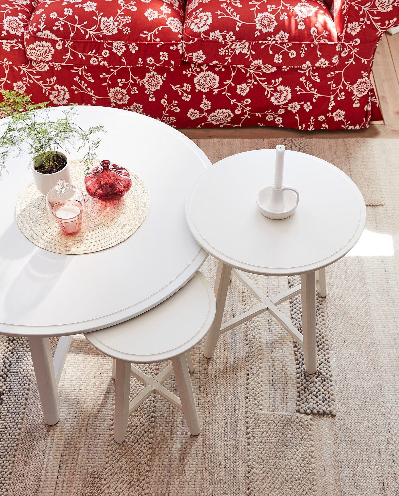 Kragsta Nesting Tables Set Of 2 White Ikea Koffietafel Witte Salontafels Woonkamertafels [ 1740 x 1400 Pixel ]