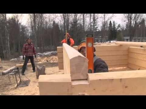 (144) Hirsitalon rakentaminen: lattiarakenne - YouTube