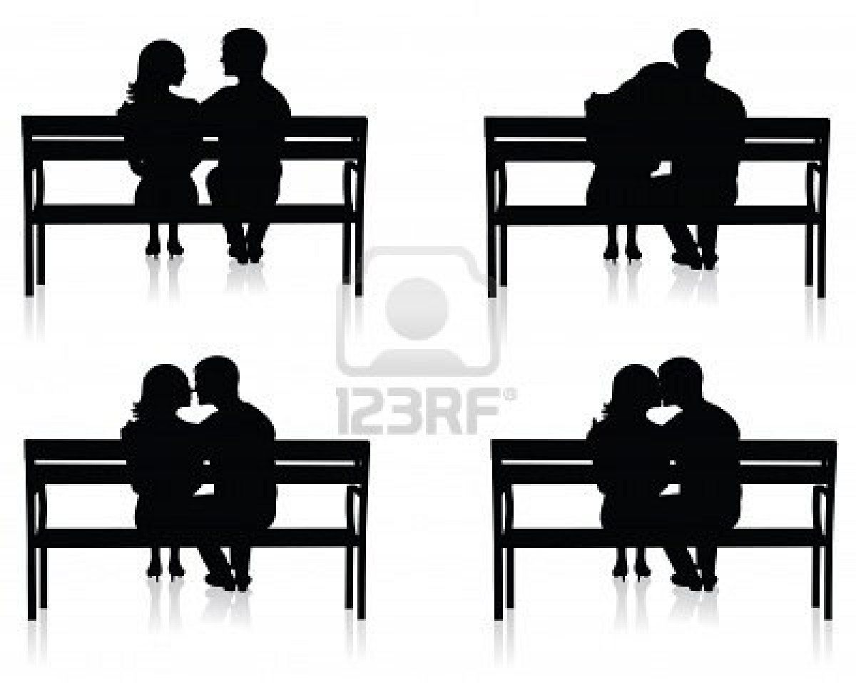 Image Detail for - Different Silhouettes Of Couples On Benches ... for People On Bench Silhouette  555kxo