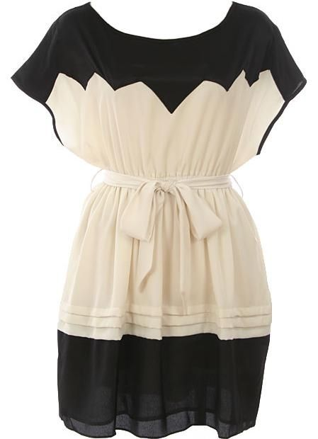 Belted Zig-Zag Dress >> Great for so many events or no event at all!