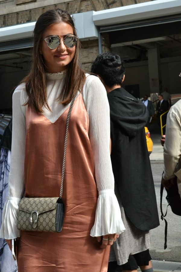 044f0480e90 NYFW Street Style- Mini Gucci Dionysus bag