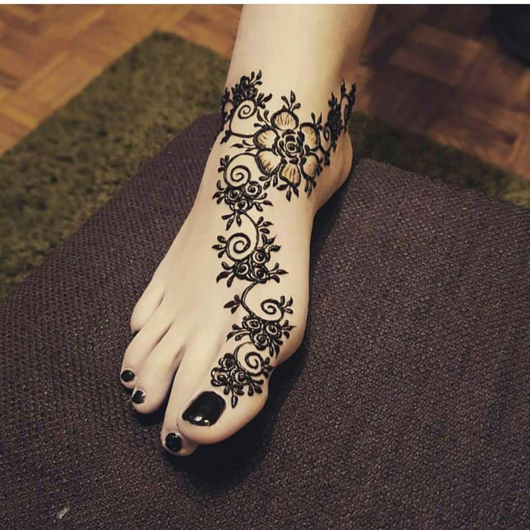 Gorgeous Flower Arabic Henna Designs 2019 For Feet Henna Tattoo Designs Henna Designs Feet Foot Henna