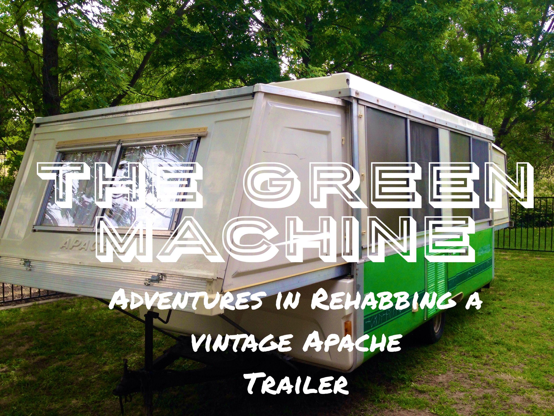 Vintage apache pop up trailer water tanks refrigerators converters oh my
