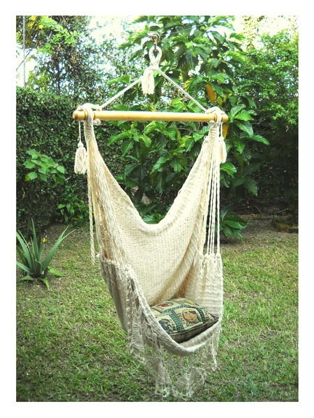Merveilleux This Elegant And Comfortable Rope Hammock Chair Is Handcrafted With 100%  Natural Cotton. The Hammock Chair Is Decorated With Handmade Tassels,  Macramé Clews ...