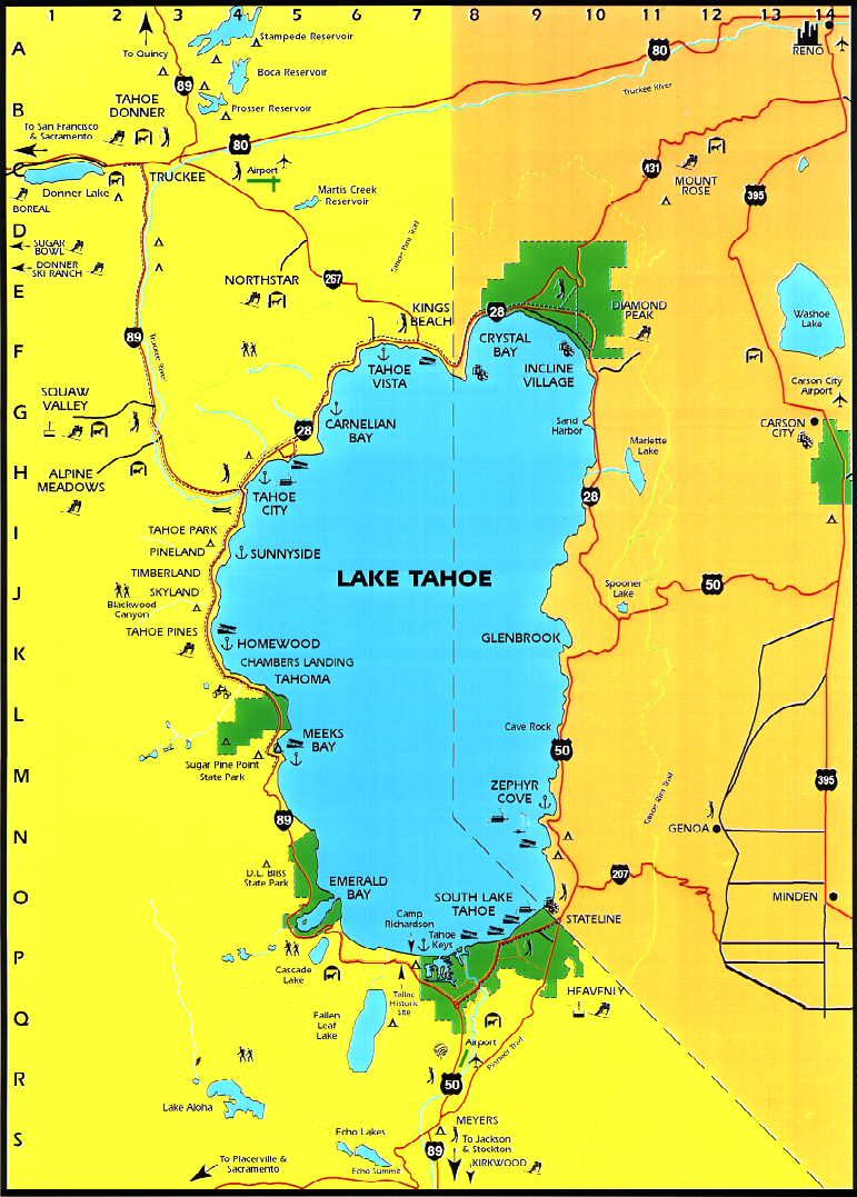Drive around Lake Tahoe on a gorgeous two lane road in as little
