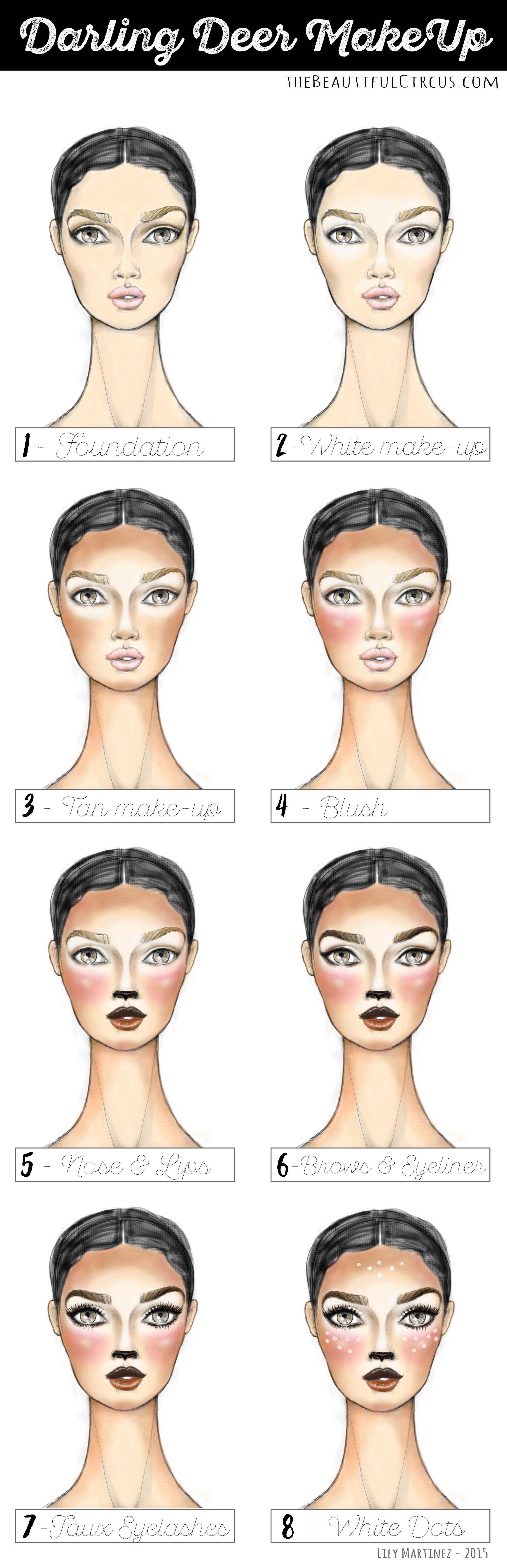 Deer FACES full step by step. by Lily Martinez (With