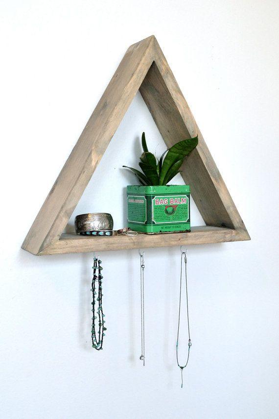 Dreieck-Regal mit 3 Haken von The807 auf Etsy | Deco aus ...