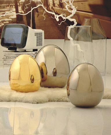 Statuette e oggetti d 39 arte ceramica ovo gigante da for Vasi rossi moderni
