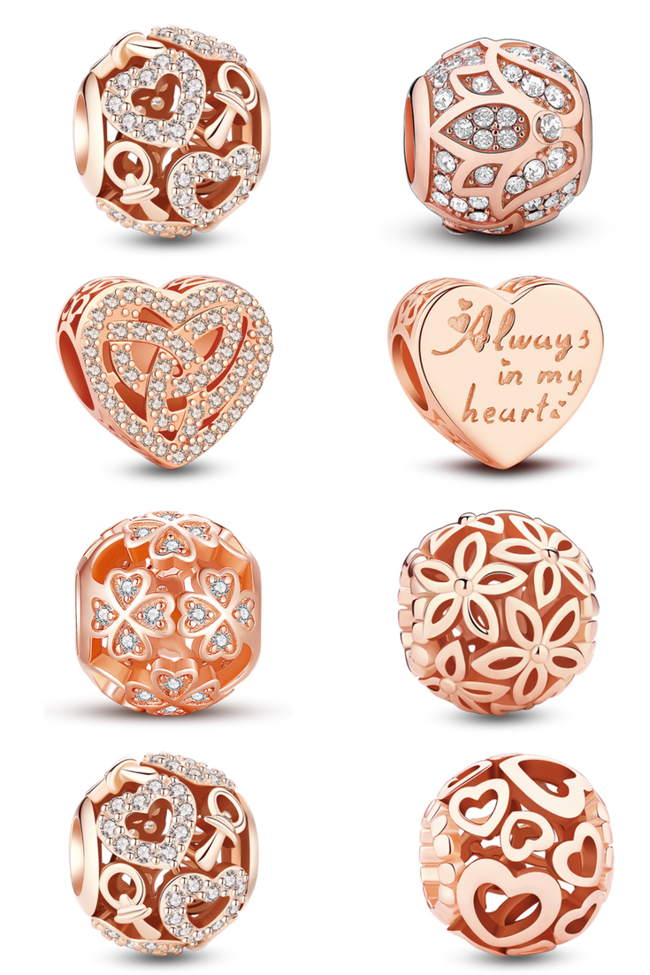 The most popular rose gold charms rose gold jewelry pinterest