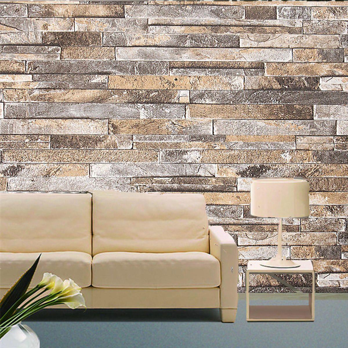 3d Wall Paper Brick Stone Pattern Vinyl Wallpaper Roll Living Room