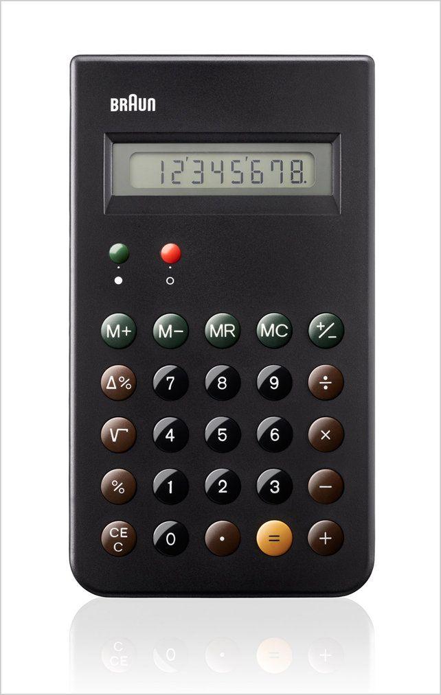 Dieter rams-designed braun et66 calculator reissued as a limited.