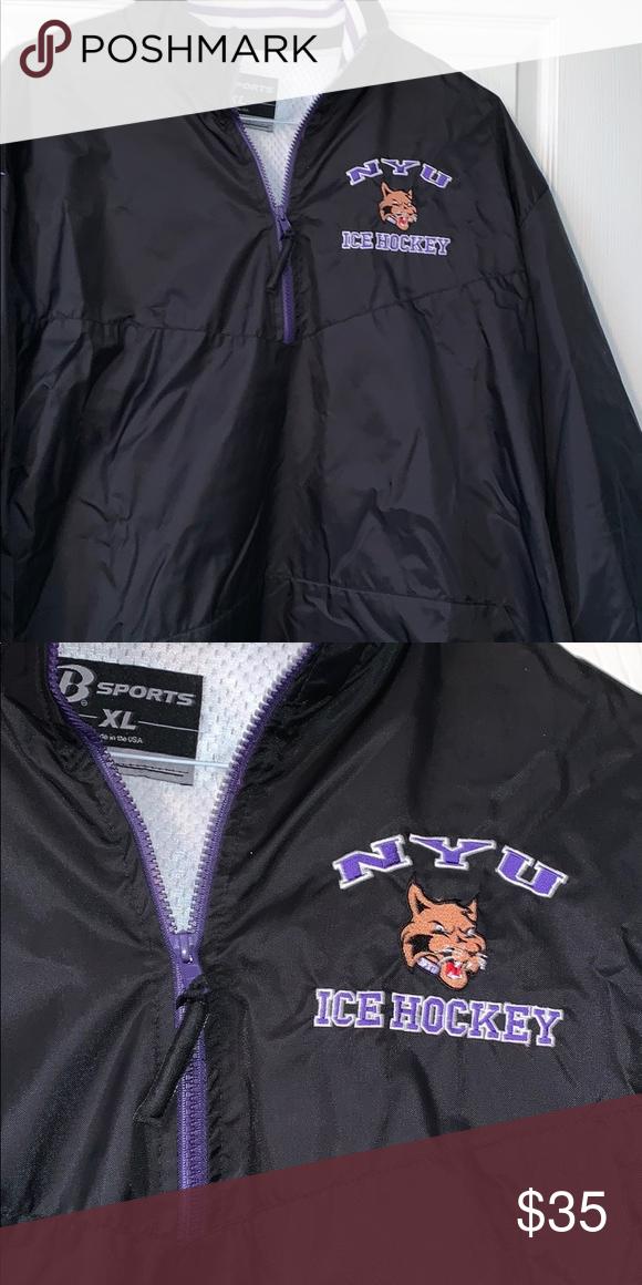 Nyu Ice Hockey 1 4 Zip Jacket Zip Jackets Jackets Mens Jackets