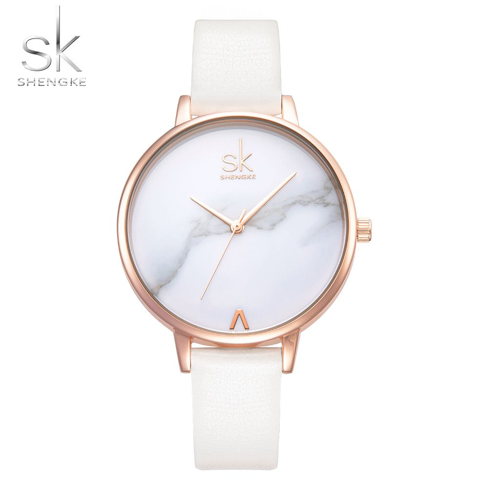 4909a17492e8  25.48 - Cool Shengke Top Brand Fashion Ladies Watches Leather Female  Quartz Watch Women Thin Casual Strap Watch Reloj Mujer Marble Dial SK - Buy  it Now!