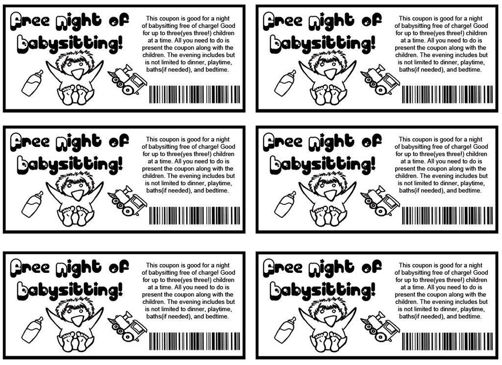 Babysitting coupons by on