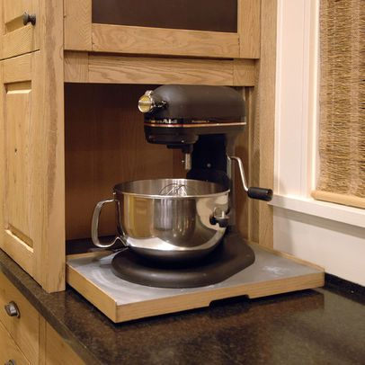 a place to hide counter top appliances.... crockpot, blender ...