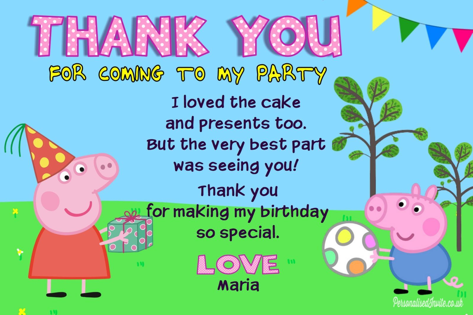 Birthday Invitations And Thank You Cards Birthday Thank You Cards New Design Birthday Thank You Cards Thank You Cards From Kids Birthday Thank You