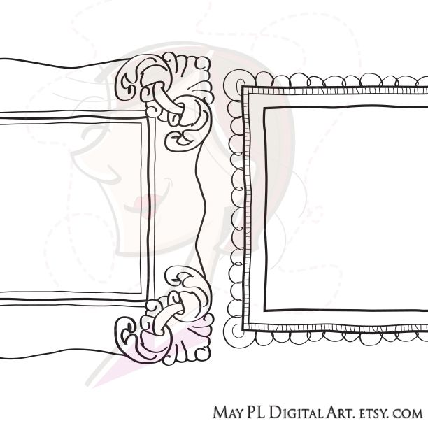 Doodle Frame Border Cute Handdrawn Doodles Clipart Of Picture