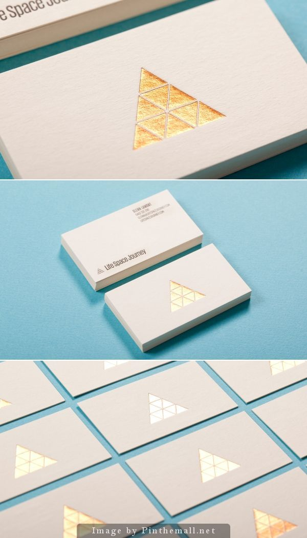 Gold Foil Business Cards with Silk Laminate | Business, Cards and ...
