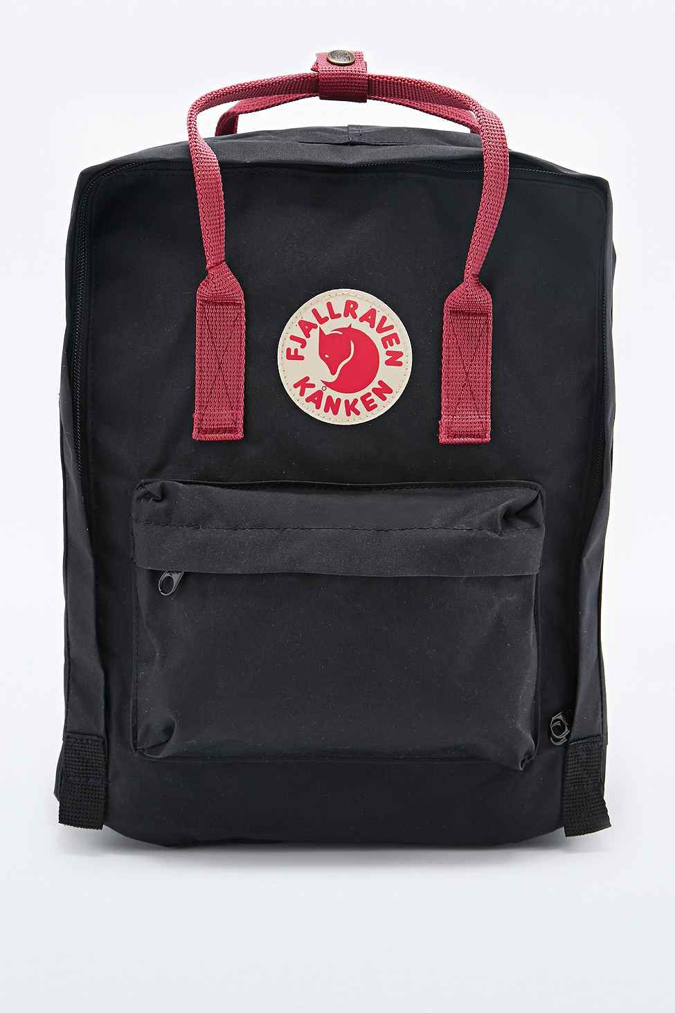 16b28c6966acdb Fjallraven Kanken Classic Backpack in Black and Oxblood