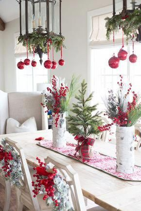 Christmas #Decor Table #Ideas #homedecorrusticwhite Holiday