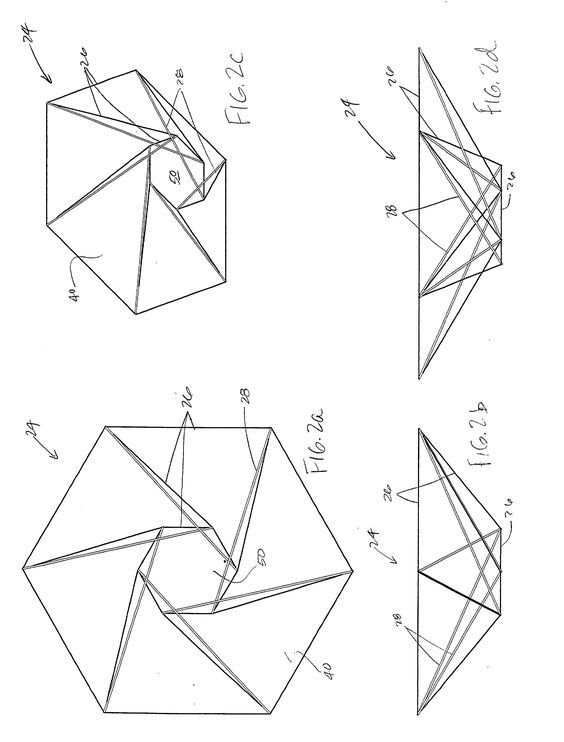 Patent US20020190918 - Deployable reflector antenna with tensegrity