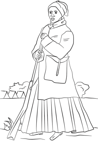 Harriet Tubman Coloring Page Harriet Tubman Pictures Black History Month Kids Black History Month Projects