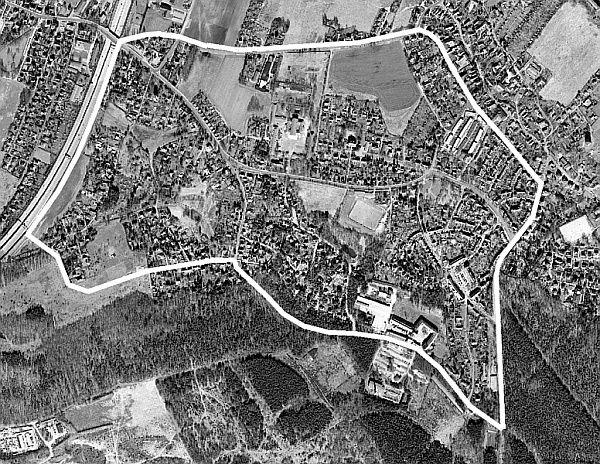Miasto–Ogr³d Hellerau znajduje się 7 kilometr³w na p³Å'noc od