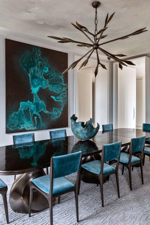 Decoration Interieure Bleu Salle A Manger Chaise