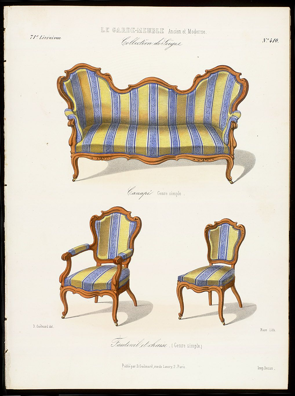 Rococo furniture sketch - Interior Design Inspiration Rococo Furniture Collection