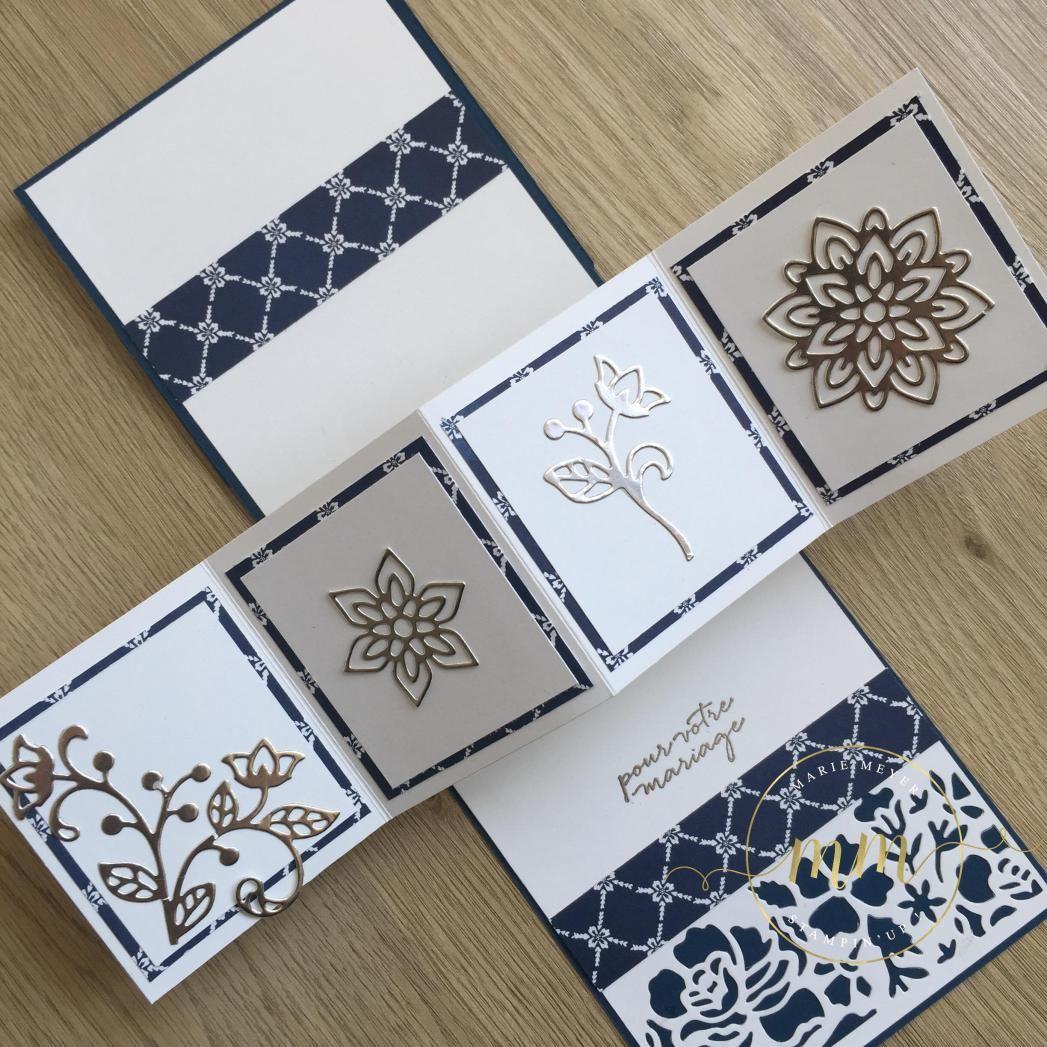 carte de f licitation de mariage pop up twist fleurs ouvrag es par marie meyer stampin up http. Black Bedroom Furniture Sets. Home Design Ideas