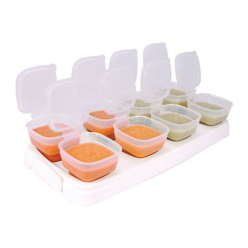 Baby Weaning Food Pots Freezer Cubes BPA FREE Microwave Safe