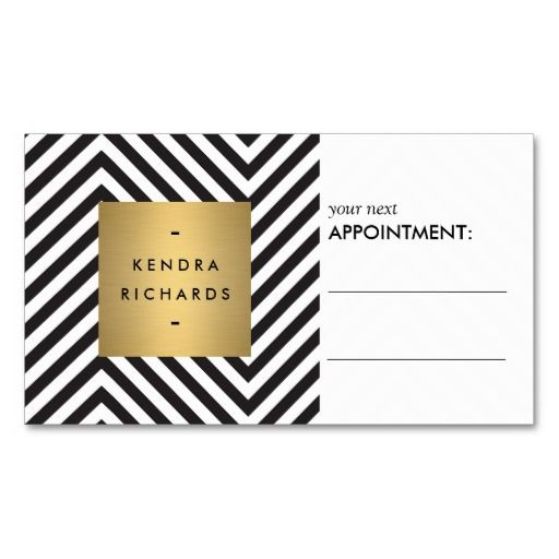 Retro black and white pattern appointment card appointment retro black and white pattern appointment card double sided standard business cards pack of make your own business card with this great design colourmoves Images