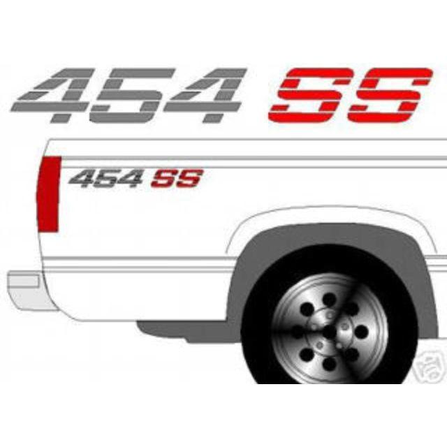 454 SS Chevy Truck 4x4 Off Road Silverado 1500 Sticker Vinyl Decal Red 2