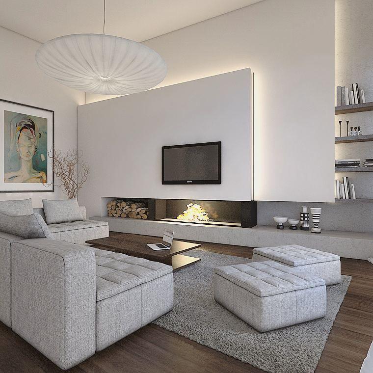 Parete salone nel 2019 arredamento salotto grande for Soggiorno moderno design