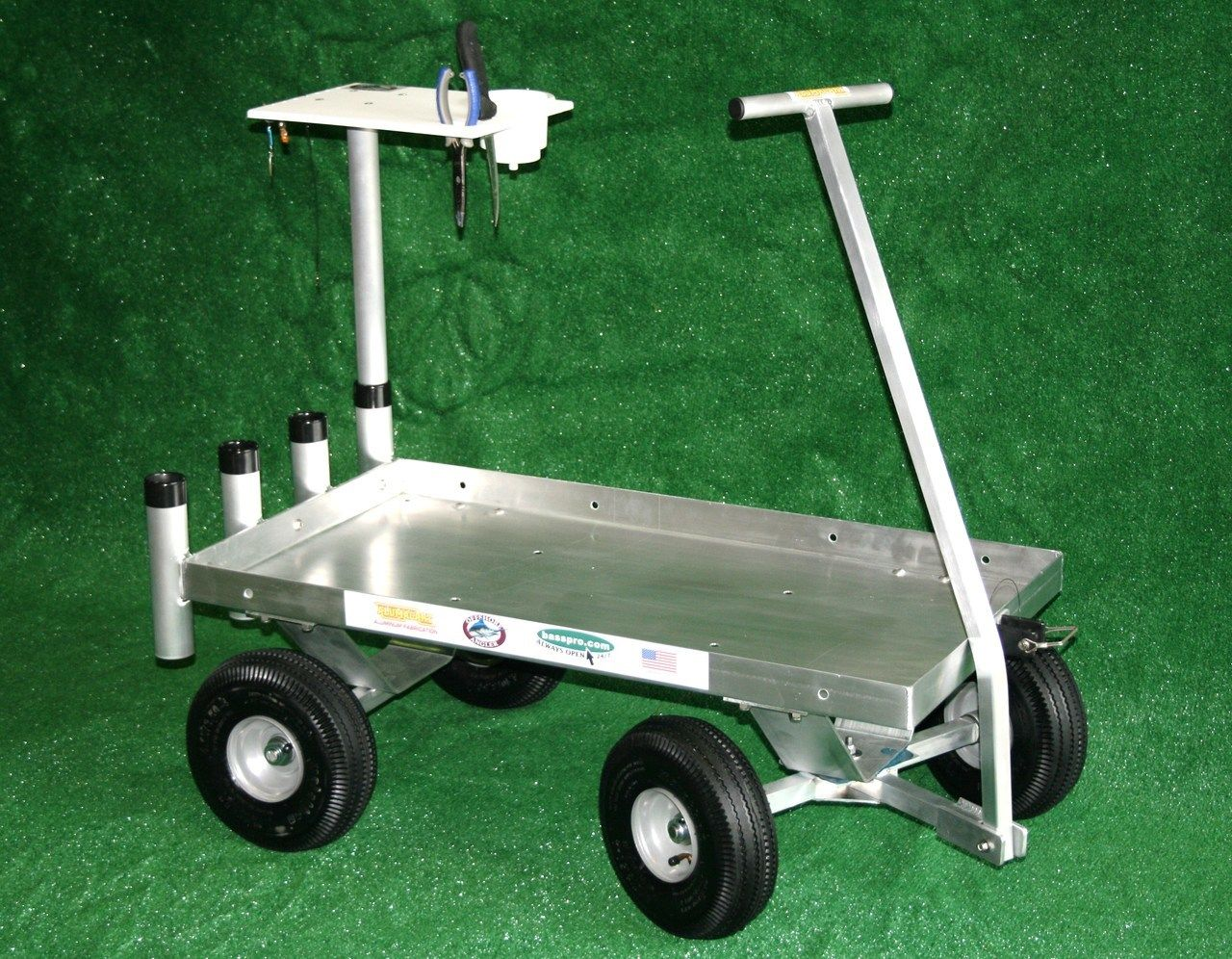 Cart Front Axle : The perfect all around fishing wagon aluminum welded